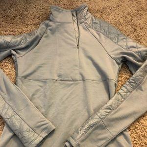 ATHLETA Women's XS Quilted Gray Half Zip